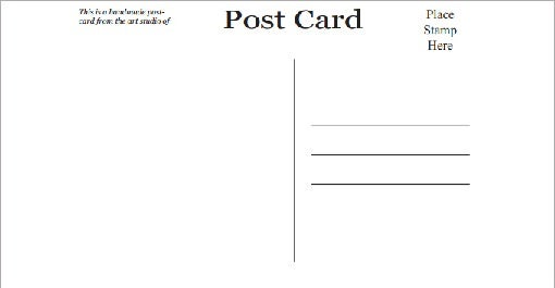 free postcard templates for word – Word Postcard Templates