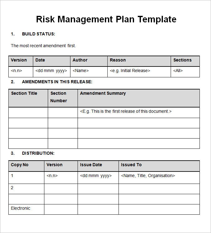 Risk Management Plan - Free Word Documents Download | Free
