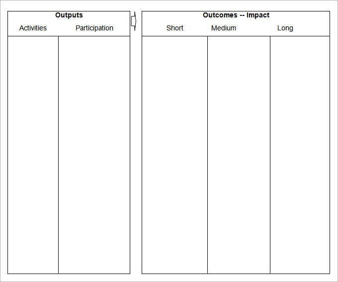 Blank Table Template. Free Download