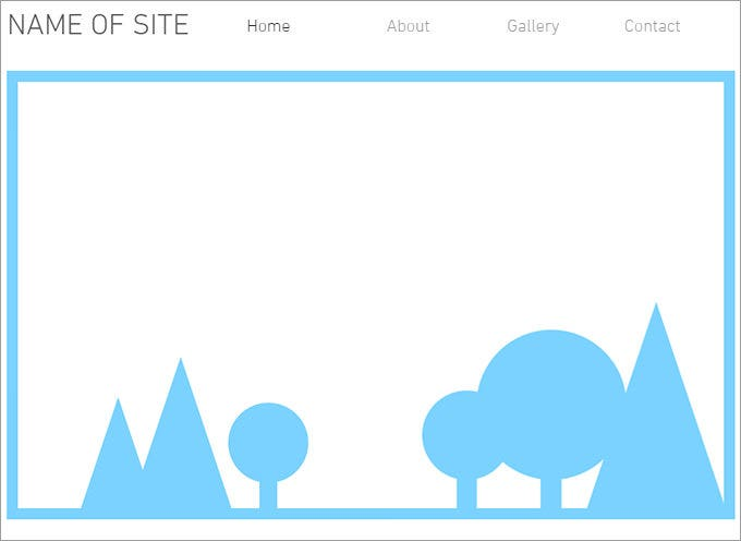 blank website minimal layout template