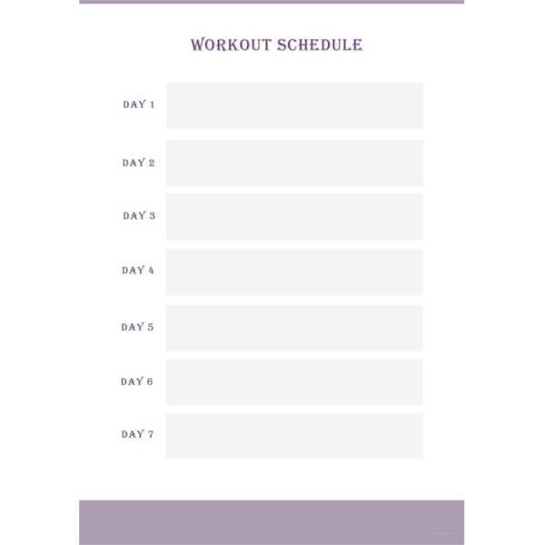22 workout schedule templates pdf doc free premium templates