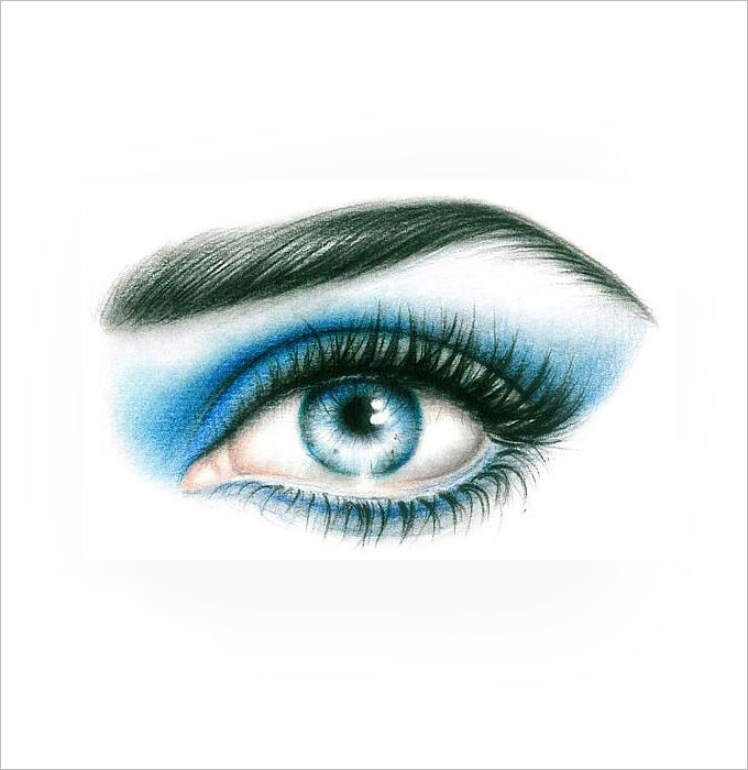 blue eye drawing 1