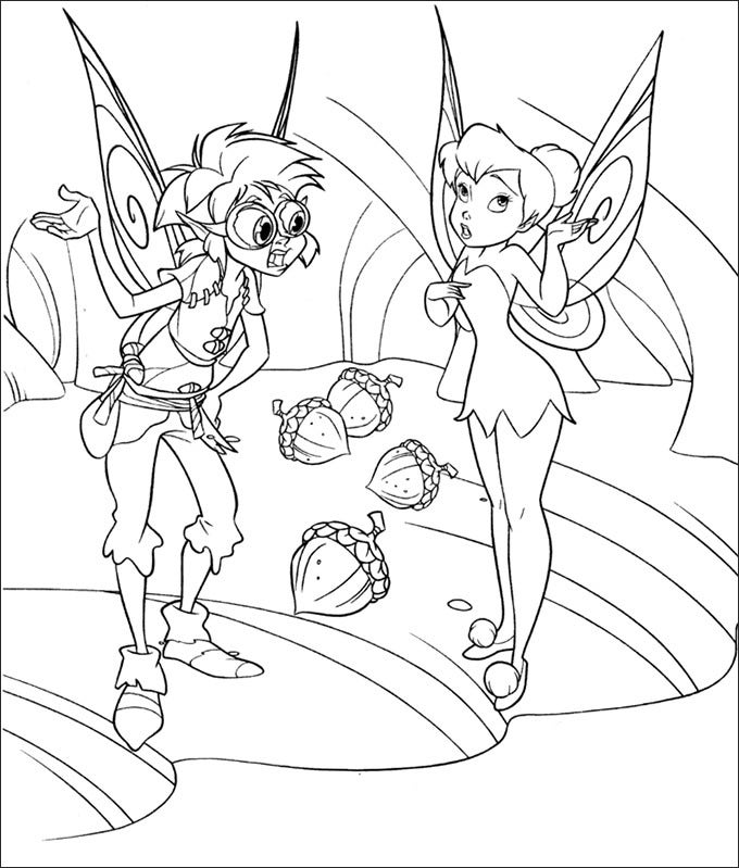 bobble and tinker bell coloring page