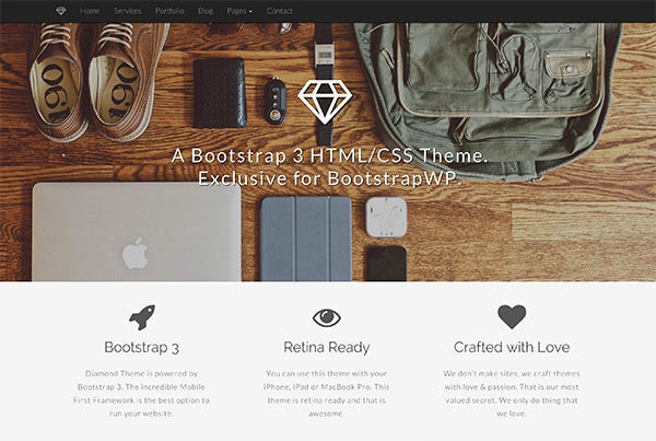 bootstrap 3 html and css theme