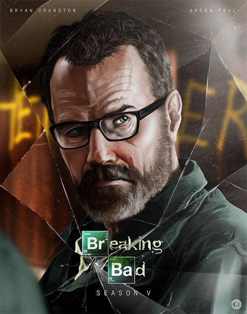 breaking bad psd art posters