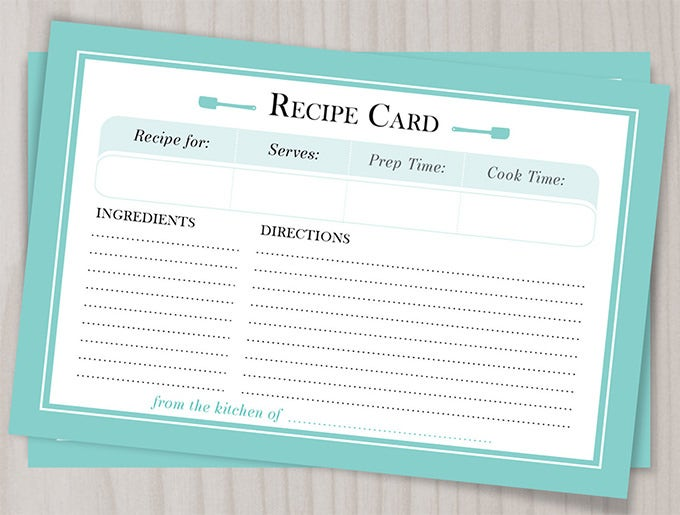 Amazing Blank Recipe Template   Examples In Pdf Word Psd