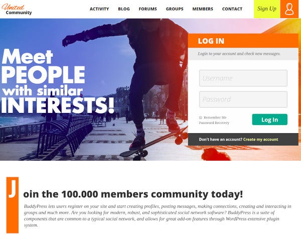 buddypress membership theme