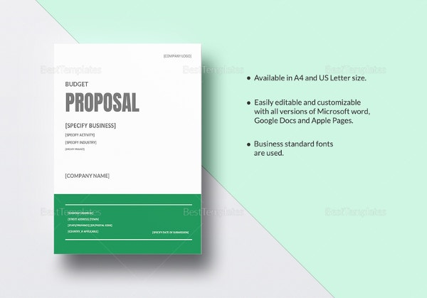 budget proposal template word