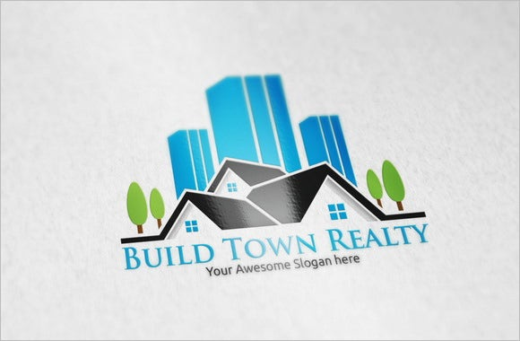 build town construction company logo