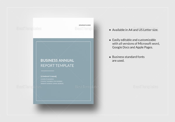 35 business report template free sample example format download business annual report template in google docs friedricerecipe Choice Image