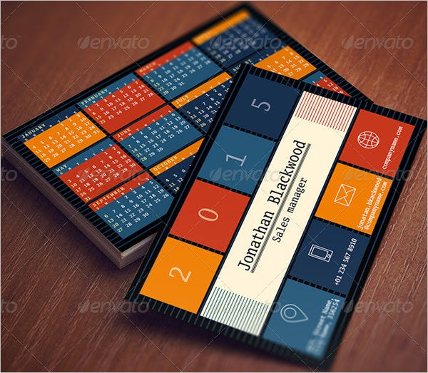 25 pocket calendar templates free psd vector eps png for Business card calendar