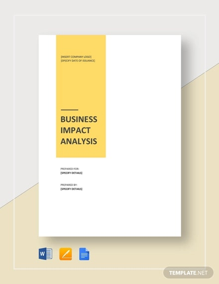 business impact analysis template1