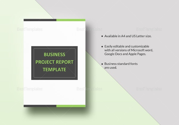35 business report template free sample example format download business project report template wajeb Choice Image
