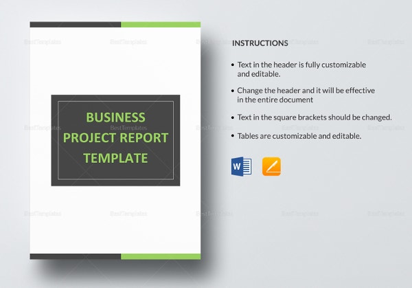 business project report template1