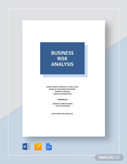 business risk analysis template
