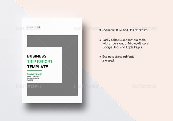 35 business report template free sample example format download business trip report template in pages for mac cheaphphosting Images
