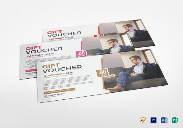 business voucher photoshop template