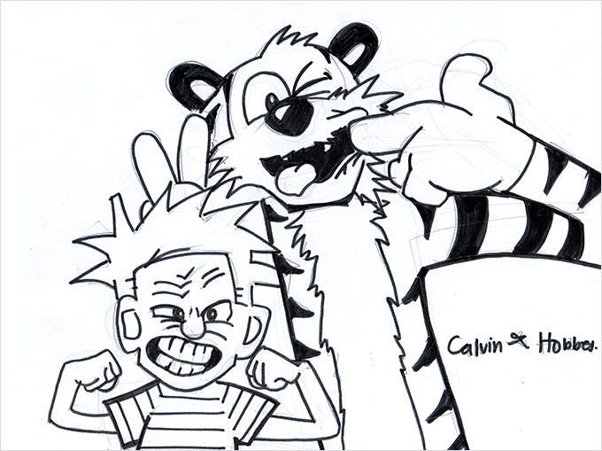 calivin and hobbes