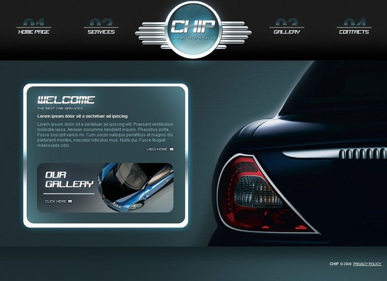Car Tuning Flash Template
