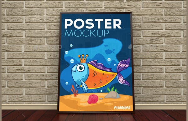 cartoon psd poster mockups