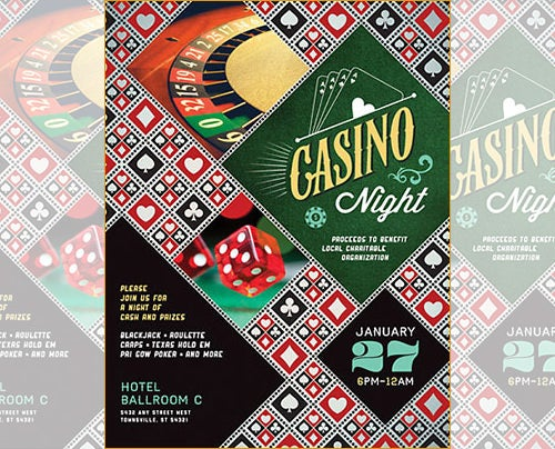 casino word flyer template