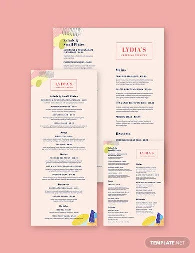 catering services menu template2