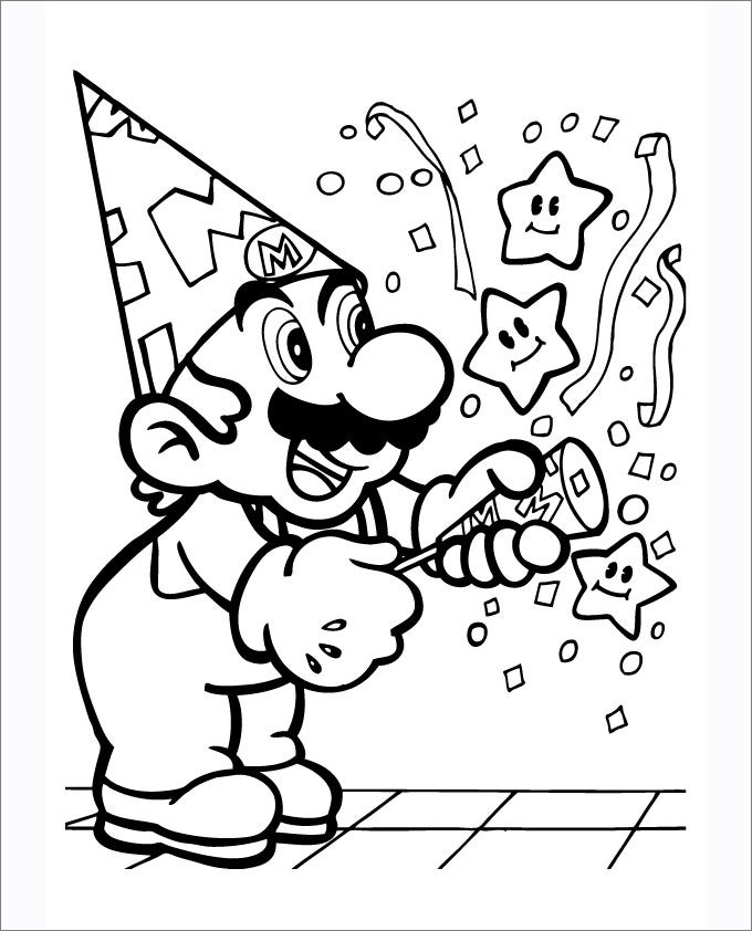 mario coloring pages free coloring pages free