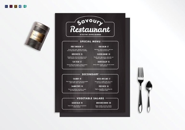 chalkboard restaurant menu template3