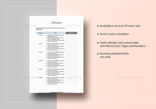 checklist template5