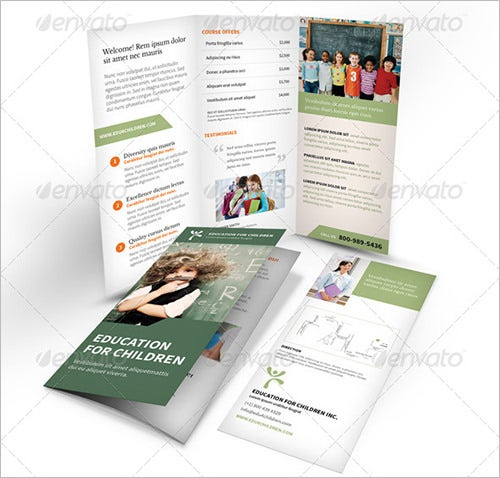 children education word flyer template