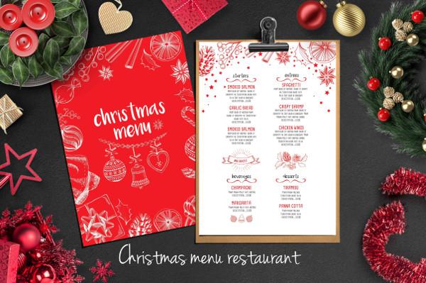christmas food menu template