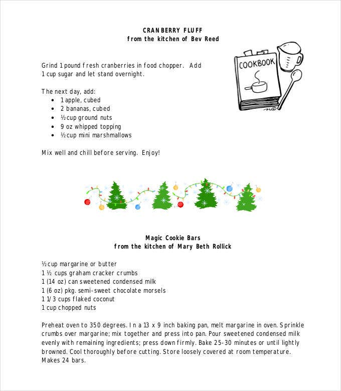 Amazing Blank Recipe Template - 38+ Examples in PDF, Word, PSD ...