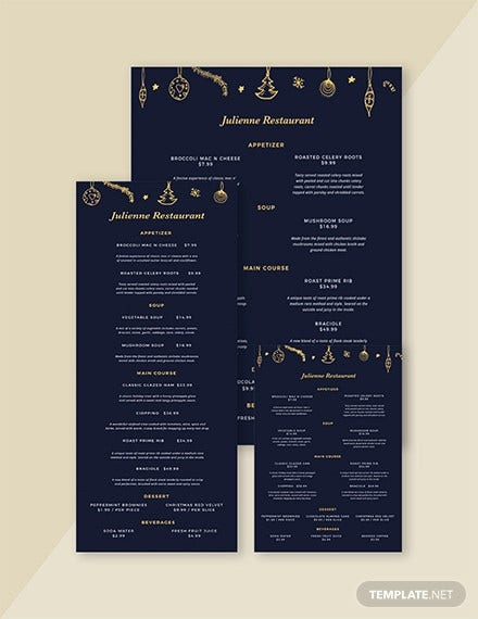 christmas menu template1