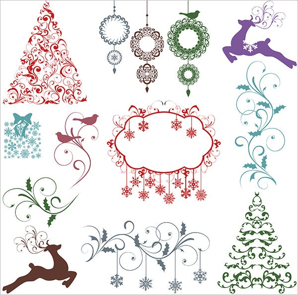 christmas silhouettes ps brushes frames