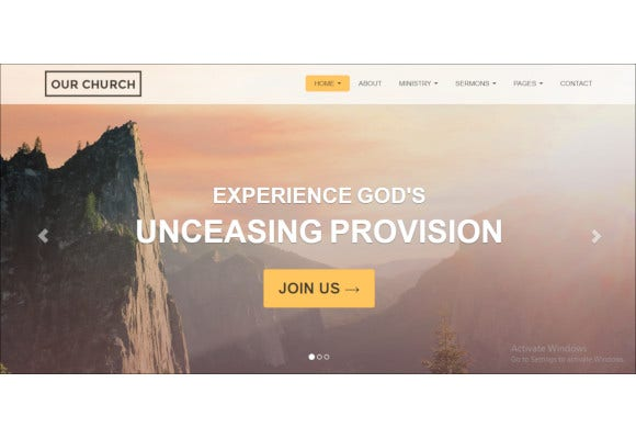 church-responsive-html5-website-template