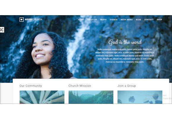church responsive wordpress theme
