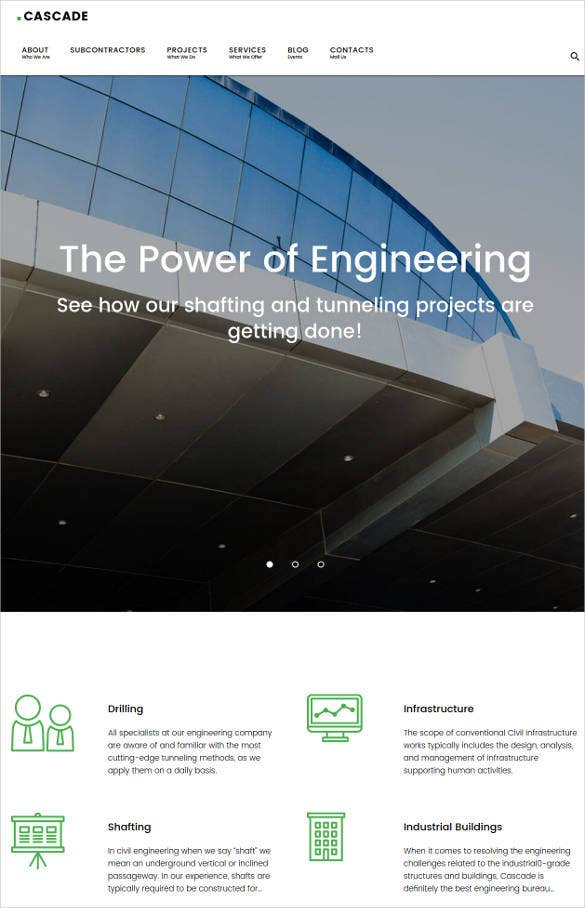 civil engineering construction wordpress website theme