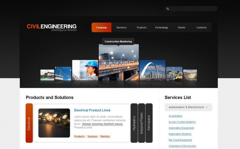 Civil Engineering Joomla Template