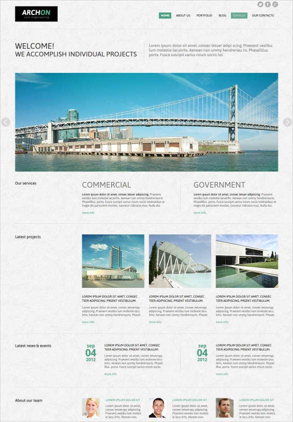 civil engineering joomla template2