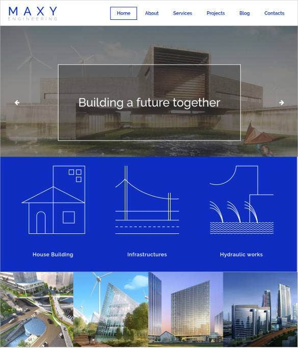 civil engineering responsive bootstrap website tem