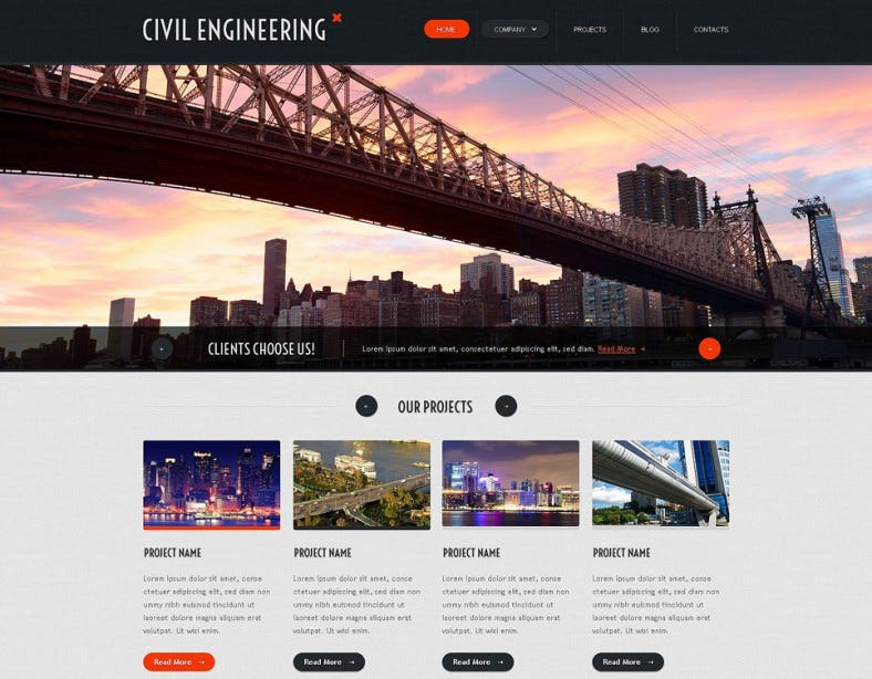 Civil Engineering Responsive Website Template1