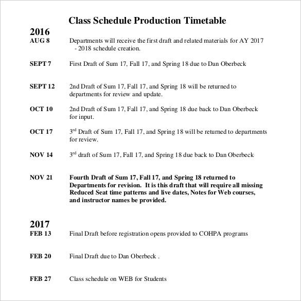 class-schedule-production-timetable