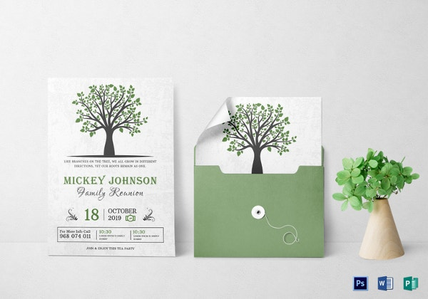 34+ Family Reunion Invitation Template - Free PSD, Vector EPS, PNG ...