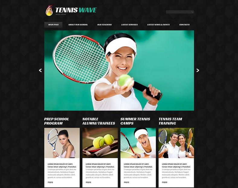 Classic Tennis Responsive WordPress Theme