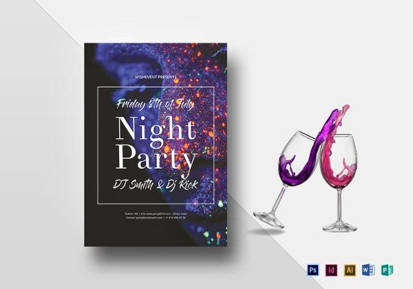 classy night party flyer template