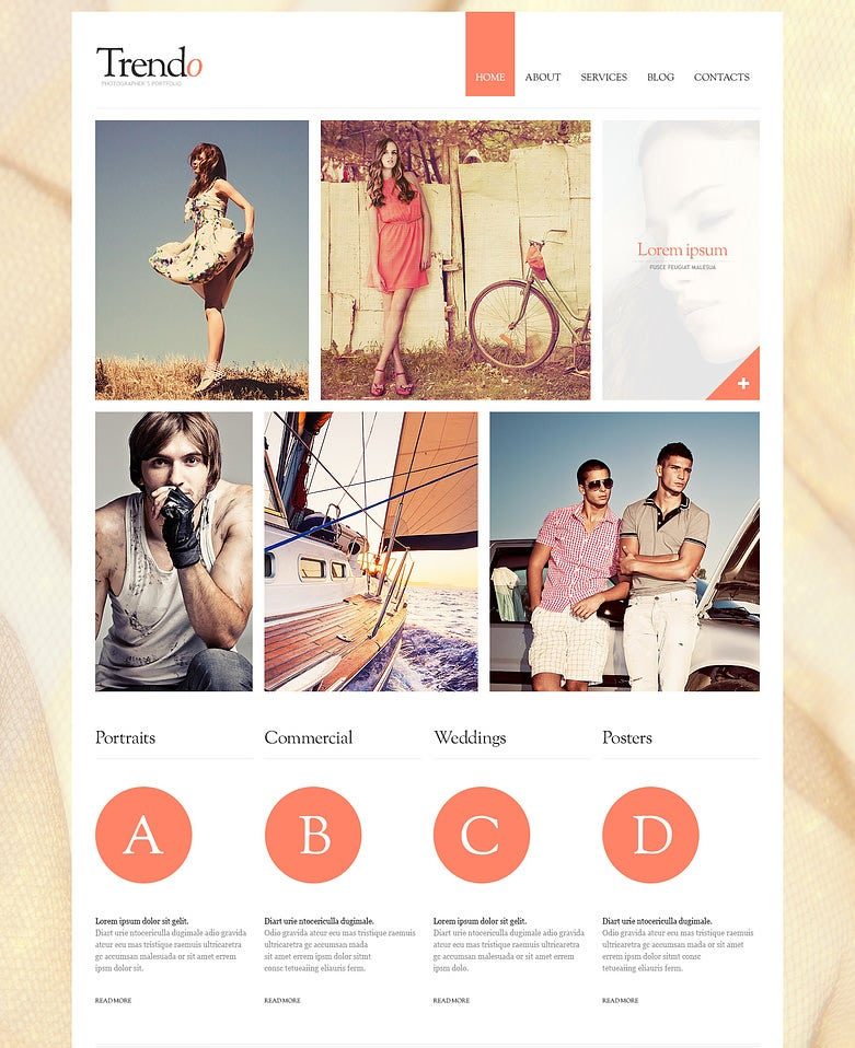 clean photographer artist portfolio joomla template 75