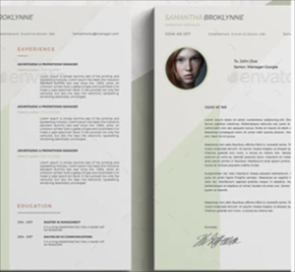clean sharp coverletter word template