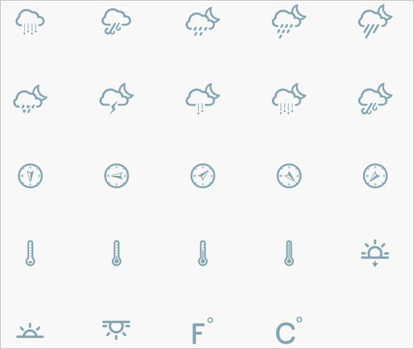 clean victor weather icons pack 1