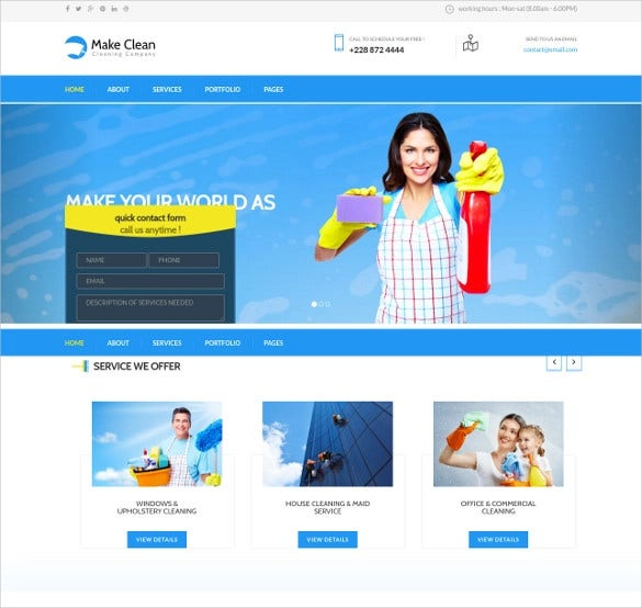 cleaning plumber joomla template1