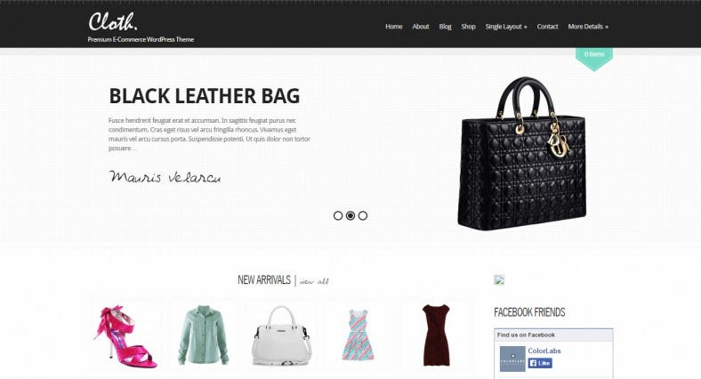 Cloth Retail eCommerce Website Template